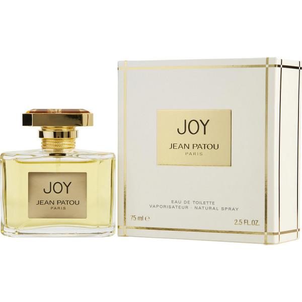 Joy - Jean Patou Eau De Toilette Spray 75 ML. Son nom est une légende. Ce parfum unique a immortalisé pour toujours le nom de Jean Patou comme l'un des plus grands parfumeurs de tous les temps. Créé en 1929, Joy devient rapidement « le parfum le plus cher du monde » et connaît un succès considérable. Aujourd'hui encore, il demeure symbole de prestige et de qualité. Joy, une parure de luxe pour une femme d'exception. Joy, un parfum hors du commun, somptueux et intemporel.