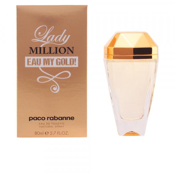 Lady million eau my gold -  eau de toilette spray 80 ml