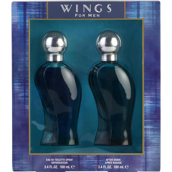 Wings pour homme - giorgio  coffret cadeau 100 ml