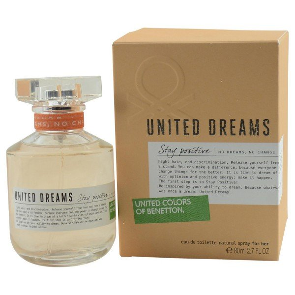 United dreams stay positive -  eau de toilette spray 80 ml