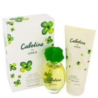 Cabotine By Parfums Gres Gift Set -- 100 Ml Eau De Toilette Spray + 6.7 Oz Body Lotion For Women For Women
