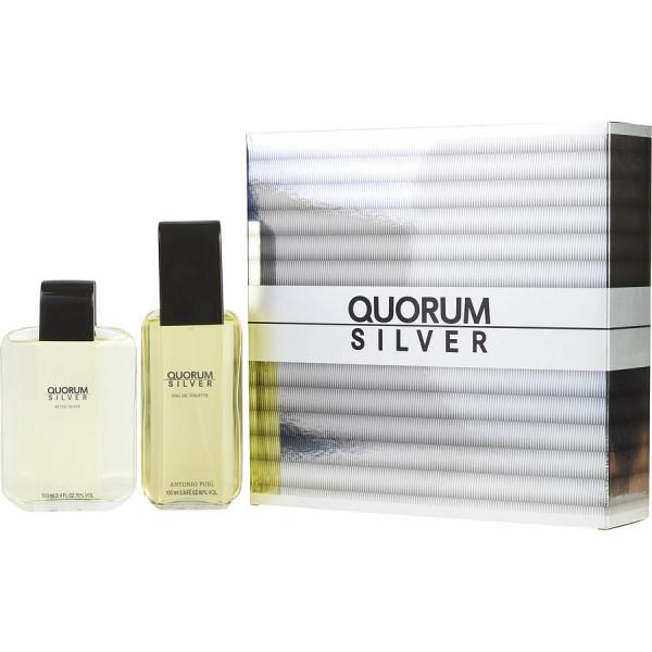 Quorum silver -  coffret cadeau 100 ml