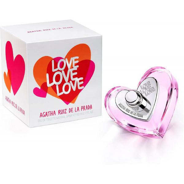 Love love love - agatha ruiz de la  eau de toilette spray 80 ml