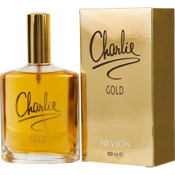 Charlie Gold - Revlon Eau De Toilette Spray 100 ML. L'Eau de Toilette Charlie Gold pour femme, est une fragrance florale et orientale. A base d'essences d'agrumes, de fleurs et d'épices. Elle conviendra parfaitement pour toutes vos journées.