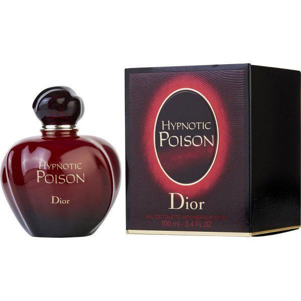 Hypnotic Poison - Christian Dior Eau De Toilette Spray 100 ML. Le parfum des séductrices envoûtantes et fascinantes dont le regard électrise et ensorcelle. Sortilège puissant, Hypnotic Poison est un parfum provoquant et magnétique, la fusion de quatre accords intenses et vibrants. Une alchimie mordante et sensuelle jusqu'à l'obsession.